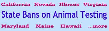 State Bans on Animal Testing